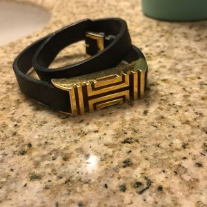 Tory Burch Fitbit Flex 2 Leather Wrap Bracelet